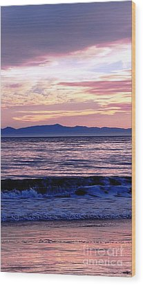 Wood Print featuring the photograph Lavender Sea by Sue Halstenberg