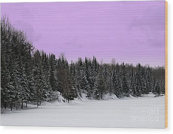 Wood Print featuring the photograph Lavender Skies by Bianca Nadeau