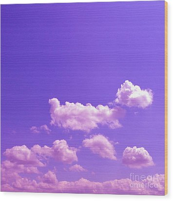 Lavender Skies Wood Print by M West