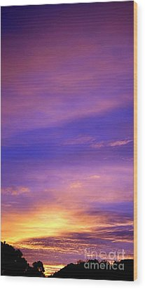 Wood Print featuring the photograph Lavender Sunrise by Sue Halstenberg