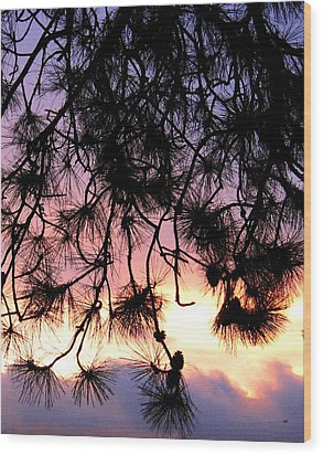 Lavender Sunset Painting Wood Print by Will Borden