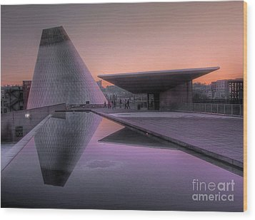 Wood Print featuring the photograph Lavender Twilight Cone by Chris Anderson