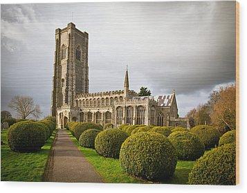 Lavenham Church Wood Print by Tom Gowanlock