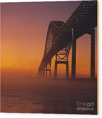Laviolette Bridge Wood Print by Publiphoto