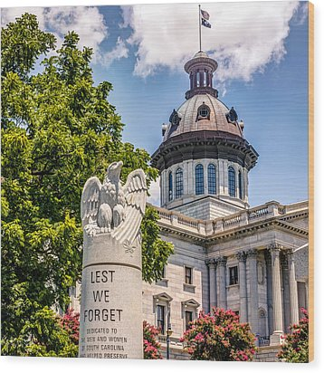 Wood Print featuring the photograph Law Enforcement Memorial by Rob Sellers