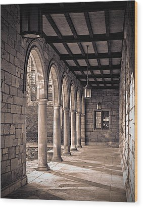 Law Quad Arches Wood Print