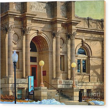 Lawrence City Library Wood Print