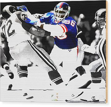 Lawrence Taylor Out Of My Way Wood Print