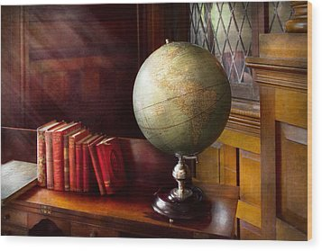 Lawyer - A World Traveler Wood Print by Mike Savad
