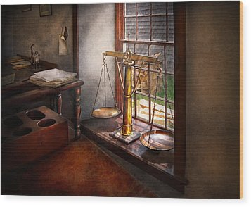 Lawyer - Scales Of Justice Wood Print by Mike Savad