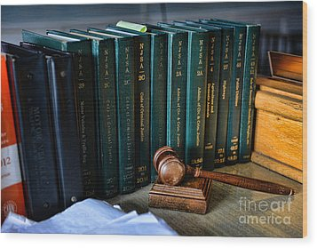 Lawyer - The Code Of Criminal Justice Wood Print by Paul Ward
