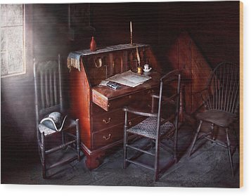 Lawyer - Writer - Where Law Began Wood Print by Mike Savad