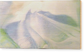 Wood Print featuring the painting Lay Of The Land by Mike Breau