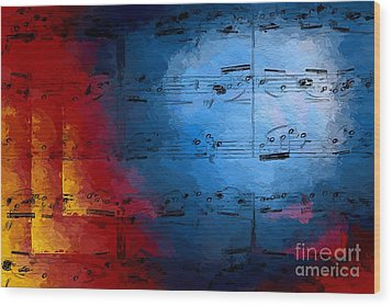 Wood Print featuring the digital art Layered Hot And Cold by Lon Chaffin