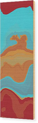 Layers And Form Wood Print by David G Paul