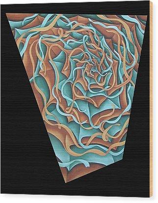 Layers Clvii Wood Print