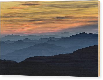 Layers Of The Blue Ridge Mountains Wood Print
