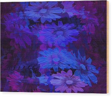 Layers Wood Print by Tatiacha  Bhodsvatan