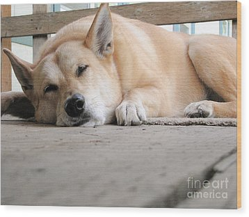 Lazin' On The Porch Wood Print by Rory Sagner