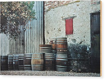 Wood Print featuring the photograph Lazy Afternoon At The Winery by Diane Alexander