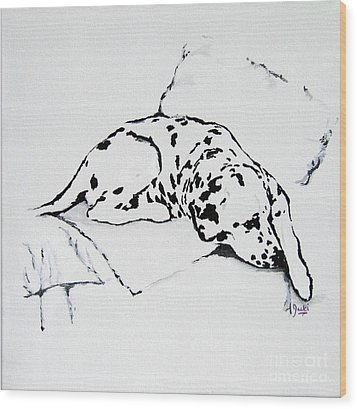 Lazy Day Wood Print by Jacki McGovern