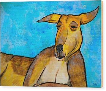 Lazy Roo Wood Print by Debi Starr