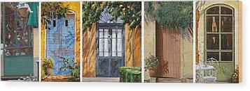 Le 5 Porte Wood Print by Guido Borelli