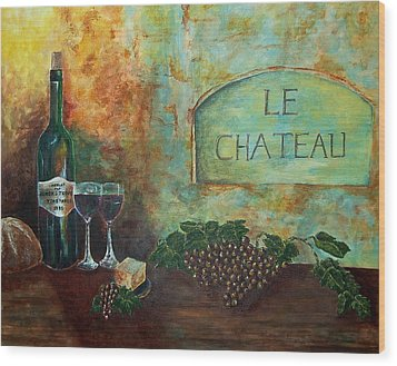 Wood Print featuring the painting Le Chateau by Tamyra Crossley