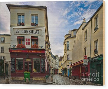 Le Consulat Wood Print by Inge Johnsson