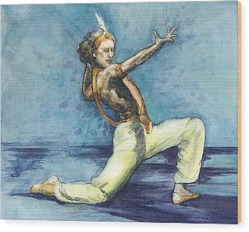 Wood Print featuring the painting Le Corsaire by Lora Serra