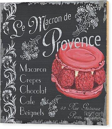 Le Macron De Provence Wood Print by Debbie DeWitt