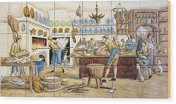 Le Patissier By Diderot Wood Print by Julia Sweda