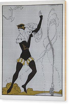 Le Pavillion D'armider Wood Print by Georges Barbier