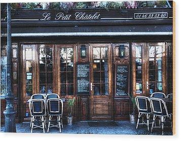 Le Petit Chatelet Paris France Wood Print by Evie Carrier