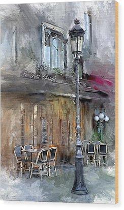 Le Petit Paris Wood Print by Evie Carrier