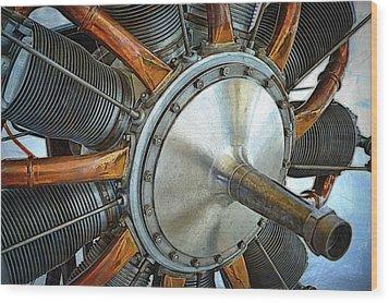 Le Rhone C-9j Engine Wood Print by Michelle Calkins