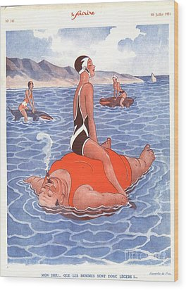 Le Sourire 1930s France Holidays Wood Print by The Advertising Archives