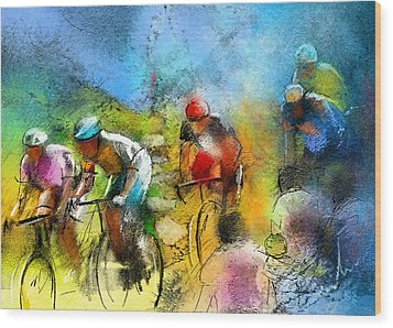 Le Tour De France 01 Wood Print by Miki De Goodaboom