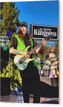 Lead Guitarist Jimmy Dence - The Fabulous Kingpins Wood Print by David Patterson