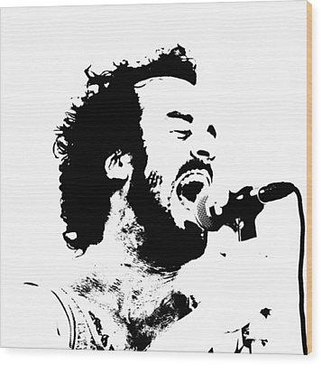 Lead Singer Wood Print by James Hammen