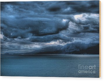 Wood Print featuring the photograph Leaden Clouds by Erhan OZBIYIK