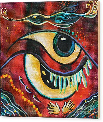 Leadership Spirit Eye Wood Print