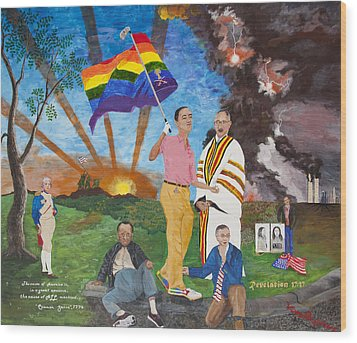 Leading Obama Left Wood Print by Mark Robbins