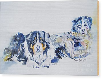 Leadville Street Dogs Wood Print by Mary Haley-Rocks
