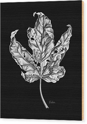 Leaf Wood Print by David Fedan