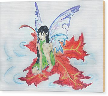 Leaf Fairy Wood Print