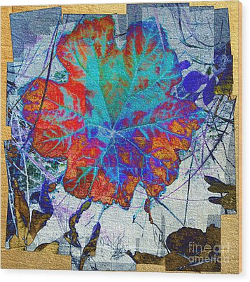 Wood Print featuring the mixed media Leaf   by Irina Hays