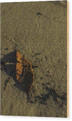Leaf Wood Print by Jennifer Burley