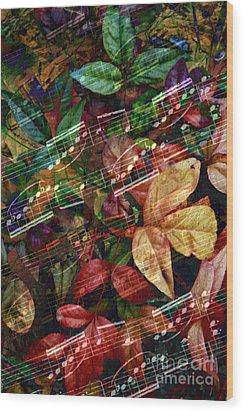 Leaf Motif Wood Print