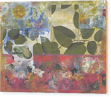 Leaf Of Life Wood Print by Gloria Von Sperling